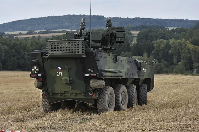 tank na poli