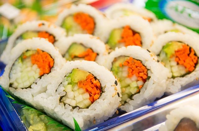 řasa v sushi