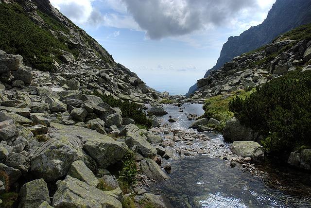 potok v Tatrách