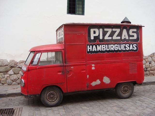 dodávka na pizzu