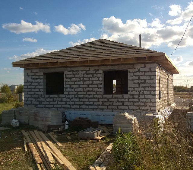 nový dům stavba
