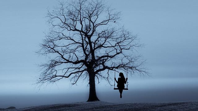 houpačka na stromě