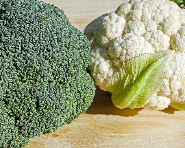 květák a brokolice